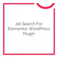 Jet Search for Elementor WordPress Plugin 1.0.1