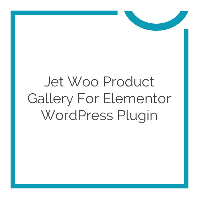 Jet Woo Product Gallery for Elementor WordPress Plugin 1.0.0