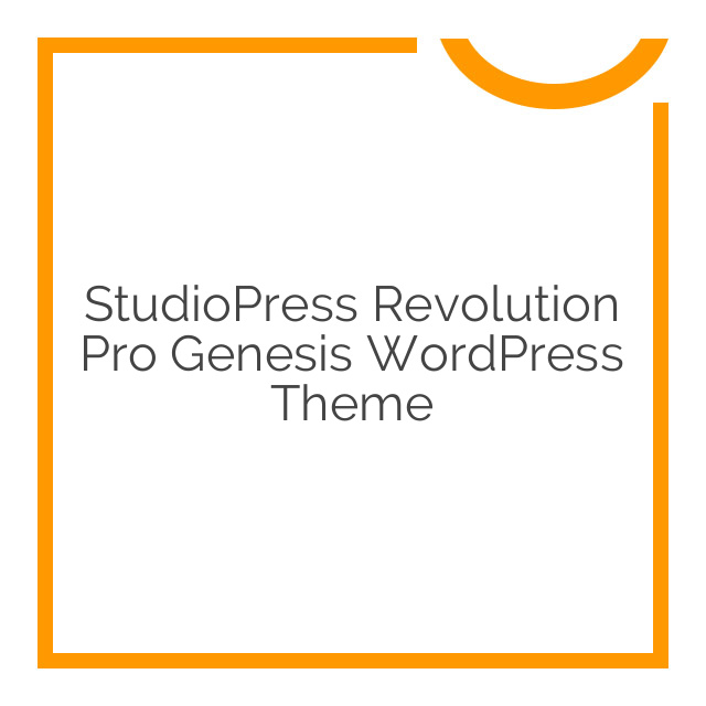 StudioPress Revolution Pro Genesis WordPress Theme 1.0.0