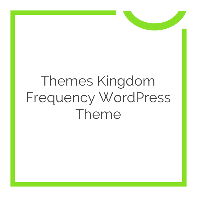 Themes Kingdom Frequency WordPress Theme 1.2