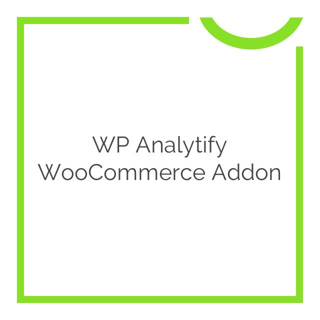 WP Analytify WooCommerce Addon 2.0.12