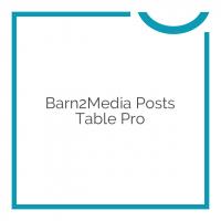 Barn2Media Posts Table Pro 2.1.1