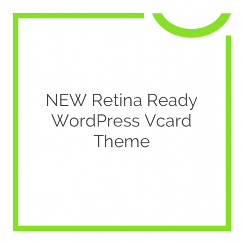 NEW Retina Ready WordPress Vcard Theme 1.0