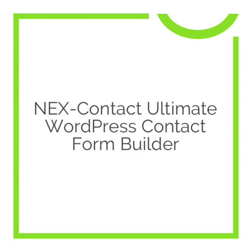 NEX-Contact Ultimate WordPress Contact Form Builder 7.2