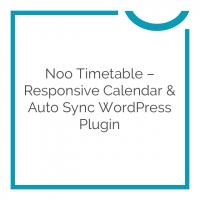Noo Timetable – Responsive Calendar & Auto Sync WordPress Plugin 2.0.5.3