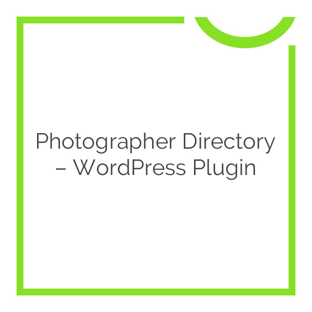Photographer Directory – WordPress Plugin 1.0.6