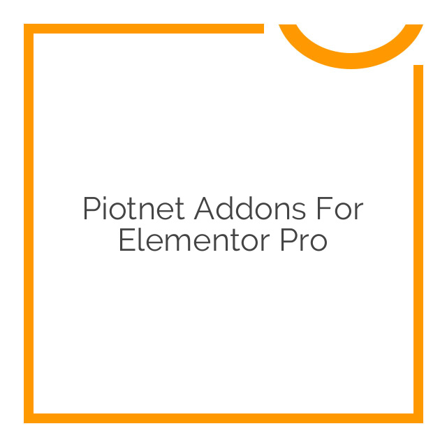 Piotnet Addons For Elementor Pro 3.4.0