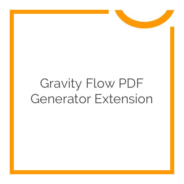Gravity Flow PDF Generator Extension 1.3.2-dev