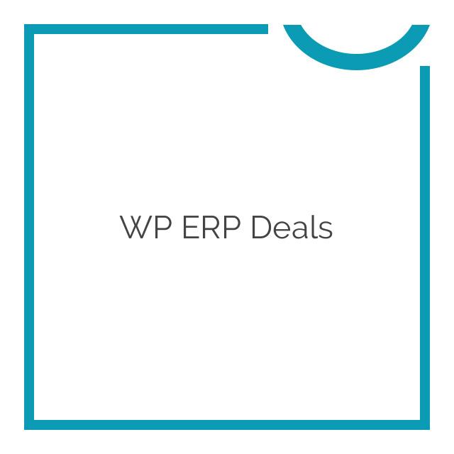 WP ERP Deals 1.1.0