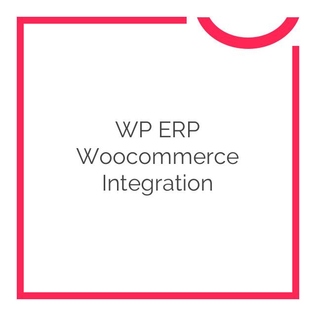 WP ERP Woocommerce Integration 1.1.0