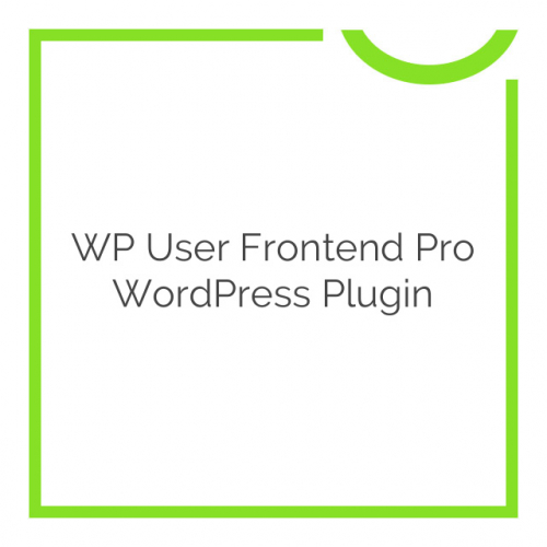 WP User Frontend Pro WordPress Plugin 3.1.6
