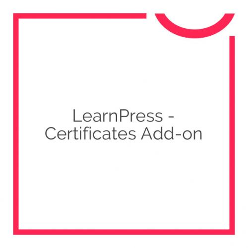 LearnPress – Certificates Add-on 3.1.2