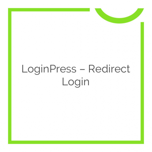 LoginPress – Redirect Login 1.1.0