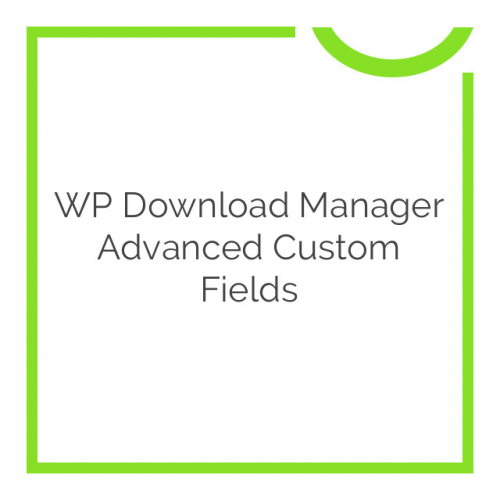 WP Download Manager Advanced Custom Fields 1.9.2
