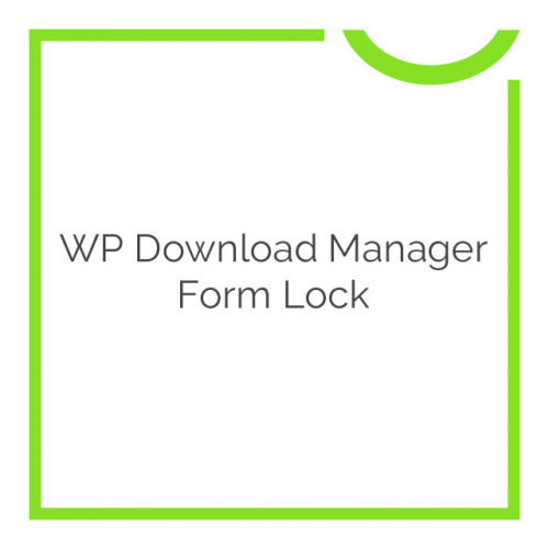 WP Download Manager Form Lock 1.6.2