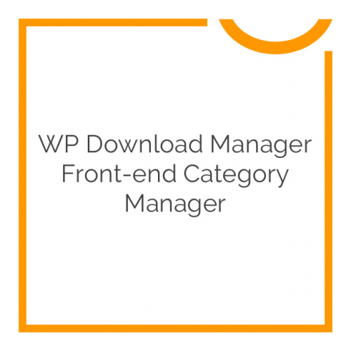 WP Download Manager Front-end Category Manager 1.2.1