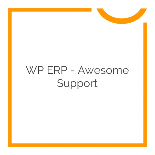 WP ERP – Awesome Support 1.0.0