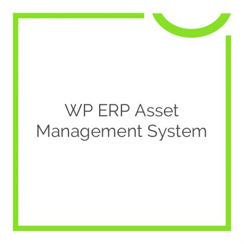 WP ERP Asset Management System 1.1.0
