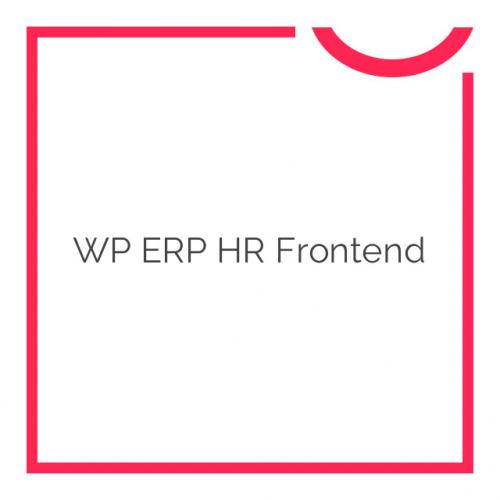 WP ERP HR Frontend 2.0.3