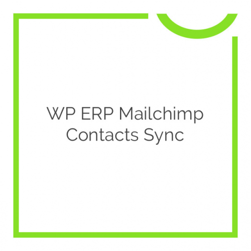 WP ERP Mailchimp Contacts Sync 1.1.0