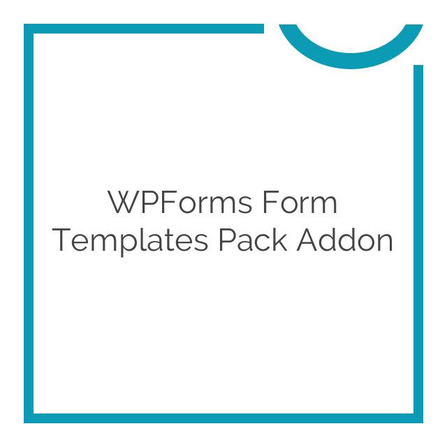 WPForms Form Templates Pack Addon 1.0.1