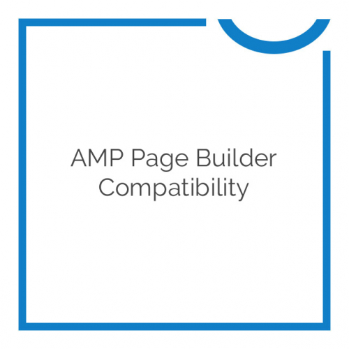 AMP Page Builder Compatibility 1.8