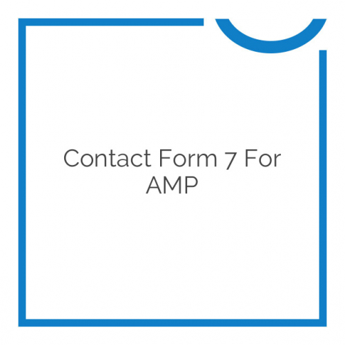 Contact Form 7 for AMP 1.10