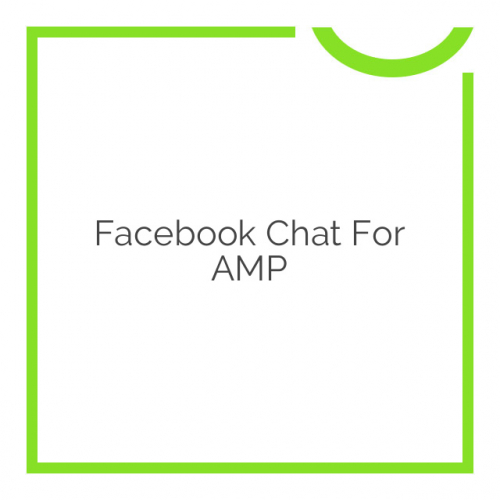 Facebook Chat for AMP 1.1