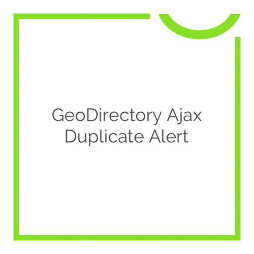 GeoDirectory Ajax Duplicate Alert 2.0.0.2