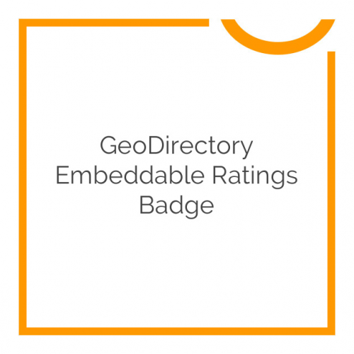 GeoDirectory Embeddable Ratings Badge 2.0.3