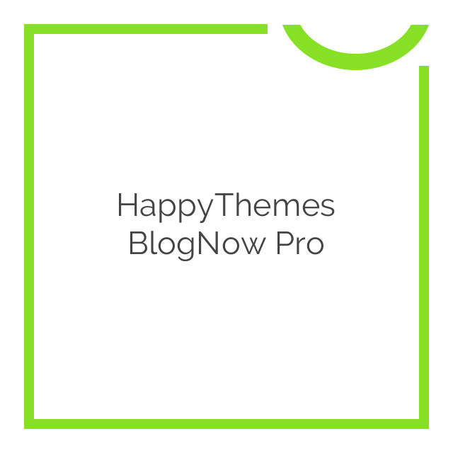 HappyThemes BlogNow Pro 1.6
