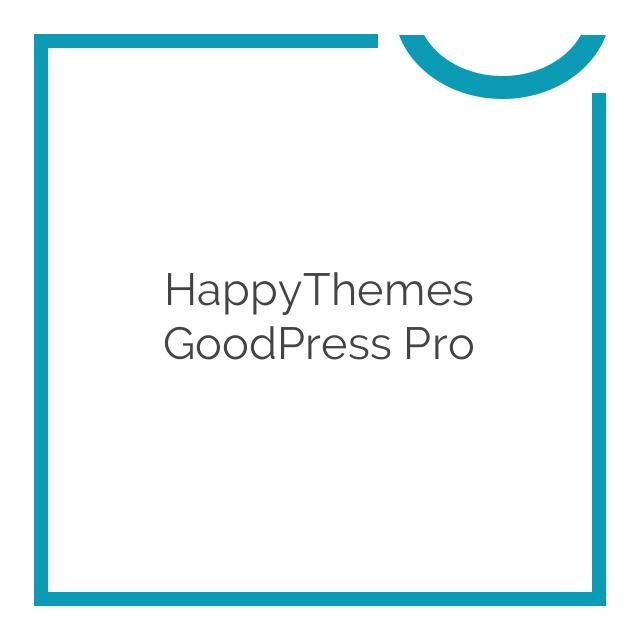 HappyThemes GoodPress Pro 1.4