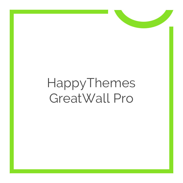 HappyThemes GreatWall Pro 1.6