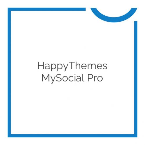 HappyThemes MySocial Pro 1.4