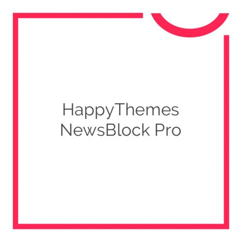 HappyThemes NewsBlock Pro 1.4