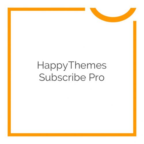 HappyThemes Subscribe Pro 1.1