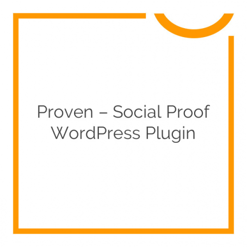 Proven – Social Proof WordPress Plugin 1.1.1