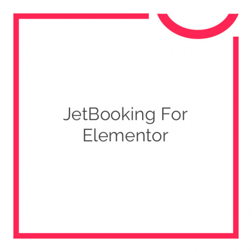 JetBooking For Elementor 1.0.0