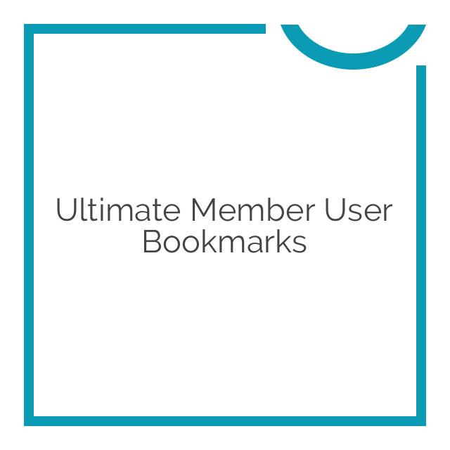 Ultimate Member User Bookmarks 2.0.1
