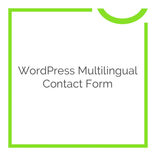 WordPress Multilingual Contact Form 1.0.1