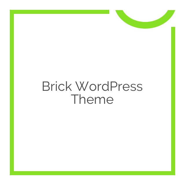 Brick WordPress Theme 1.55