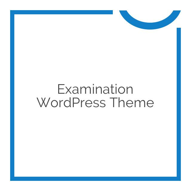 Examination WordPress Theme 1.27