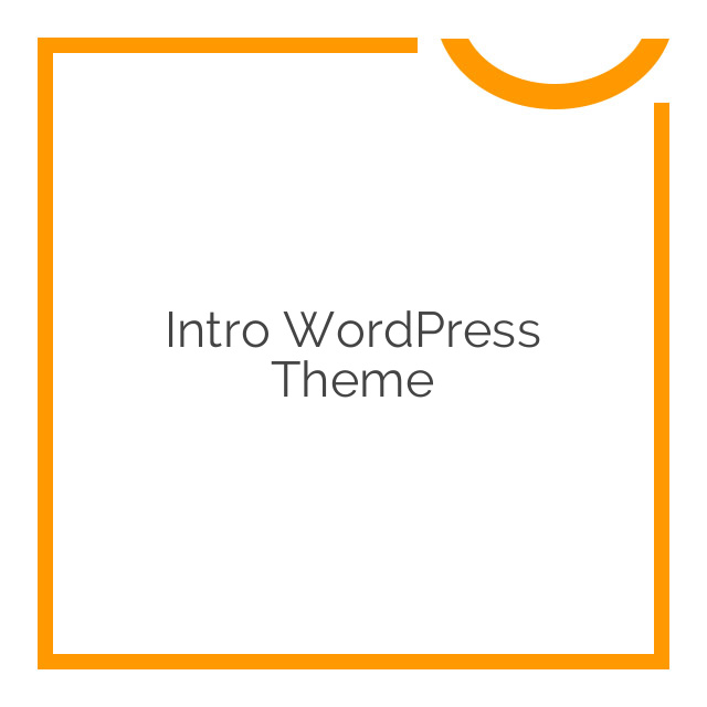 Intro WordPress Theme  1.17