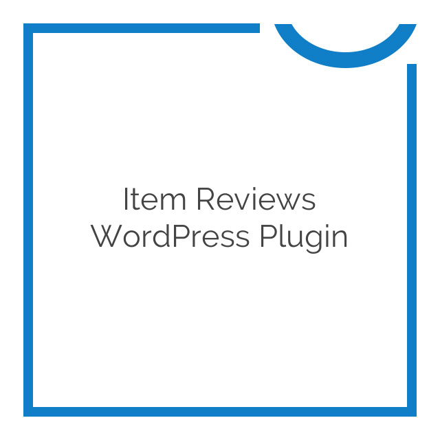 Item Reviews WordPress Plugin 2.4