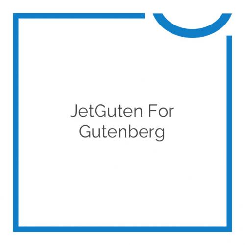 JetGuten for Gutenberg 1.1.2