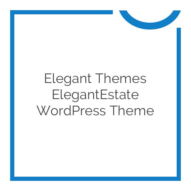 Elegant Themes ElegantEstate WordPress Theme 5.0.13