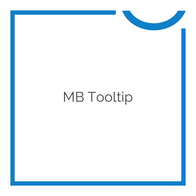 MB Tooltip 1.1.2
