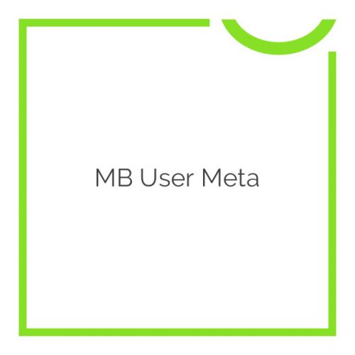 MB User Meta 1.2.7