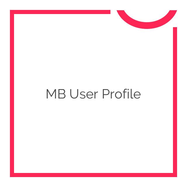 MB User Profile 1.5.1