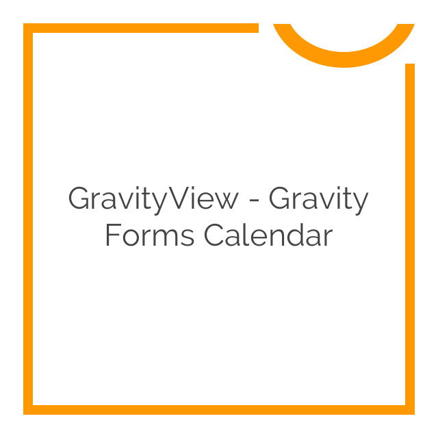 GravityView – Gravity Forms Calendar 1.3